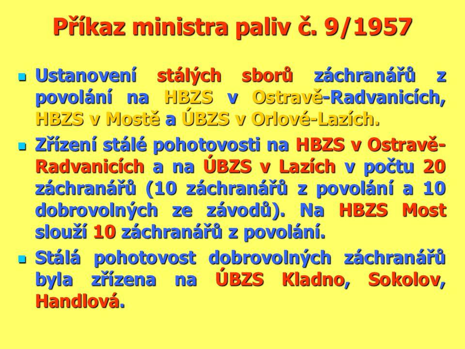 Příkaz ministra paliv č. 9/1957