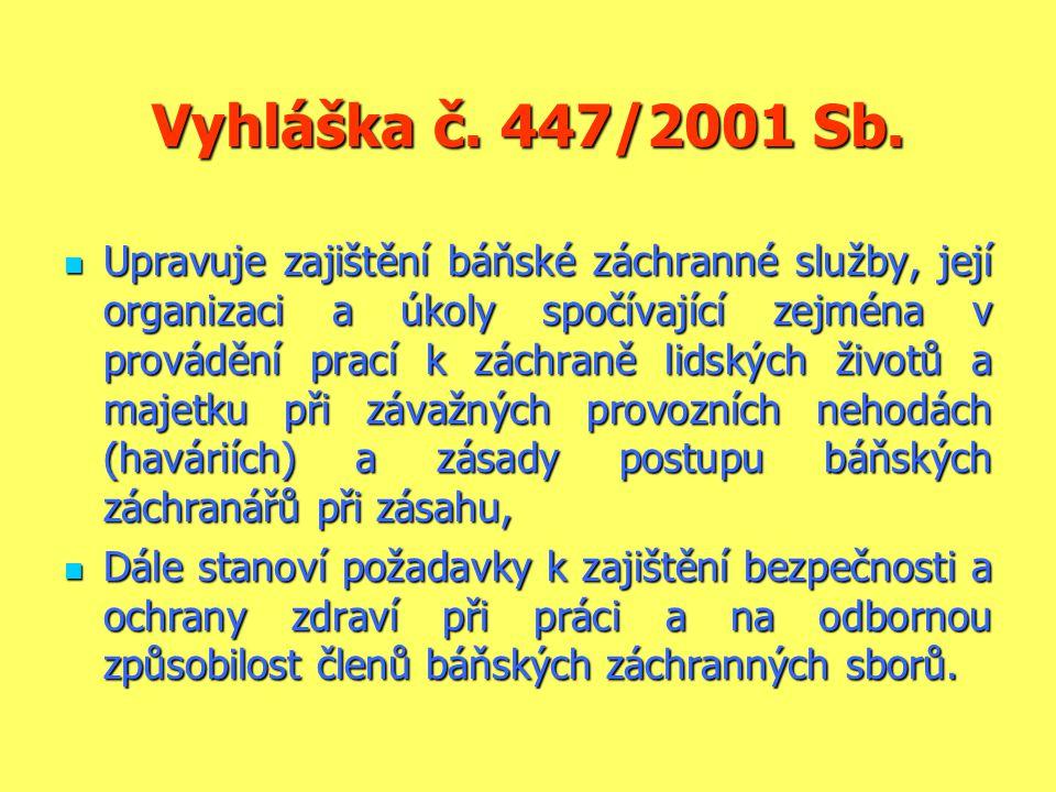 Vyhláška č. 447/2001 Sb.