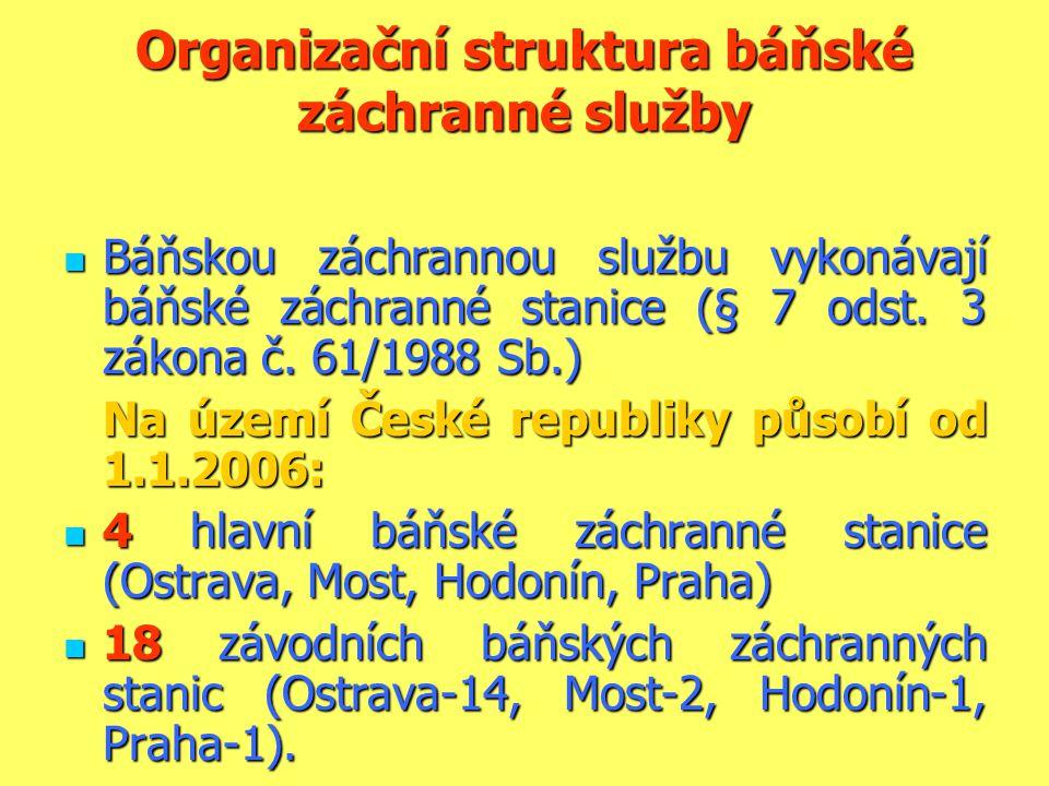Organizační struktura báňské záchranné služby