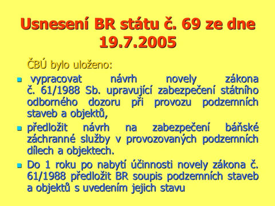 Usnesení BR státu č. 69 ze dne 19.7.2005