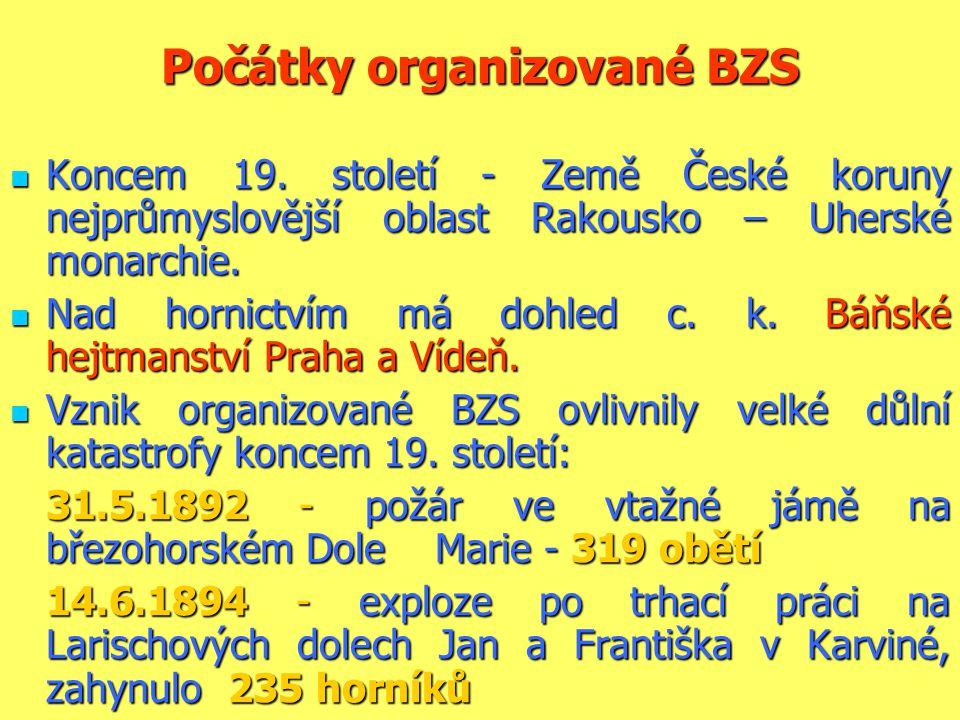 Počátky organizované BZS