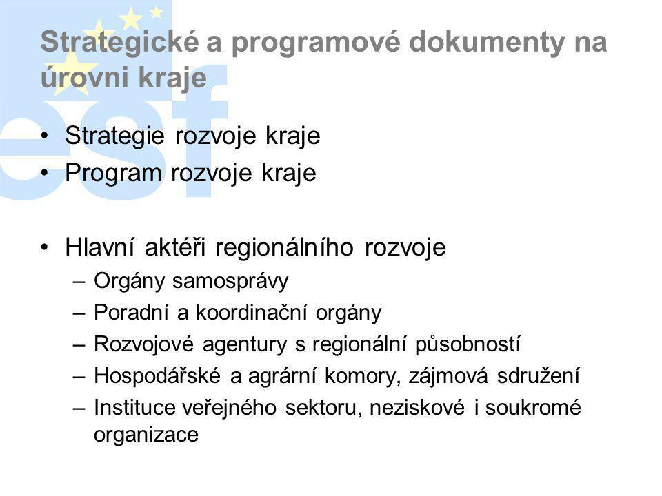 Strategické a programové dokumenty na úrovni kraje