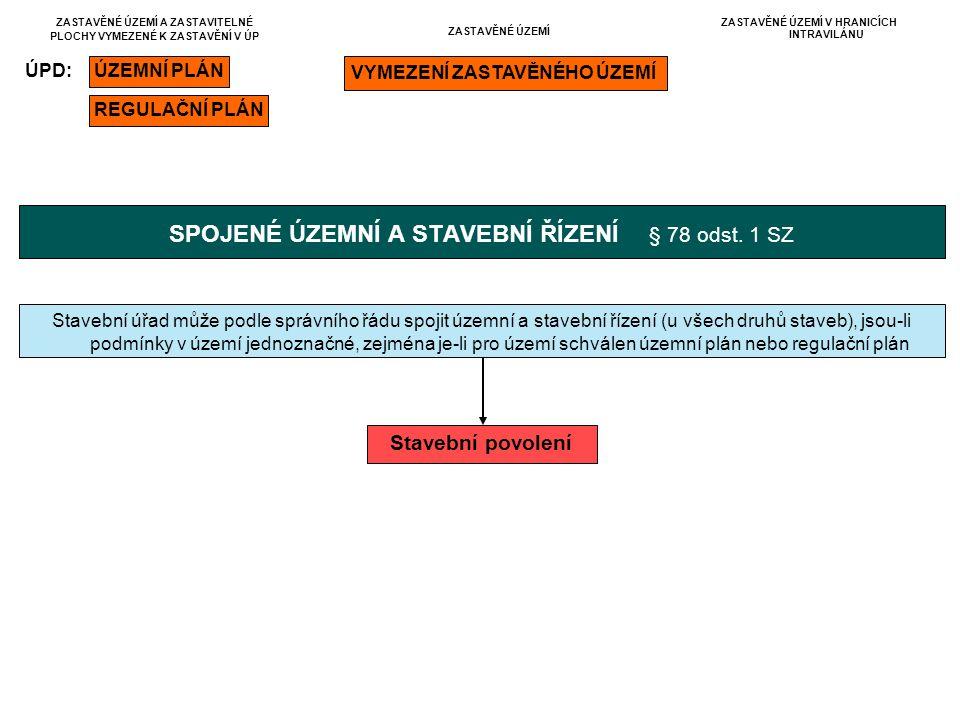 SPOJENÉ ÚZEMNÍ A STAVEBNÍ ŘÍZENÍ § 78 odst. 1 SZ