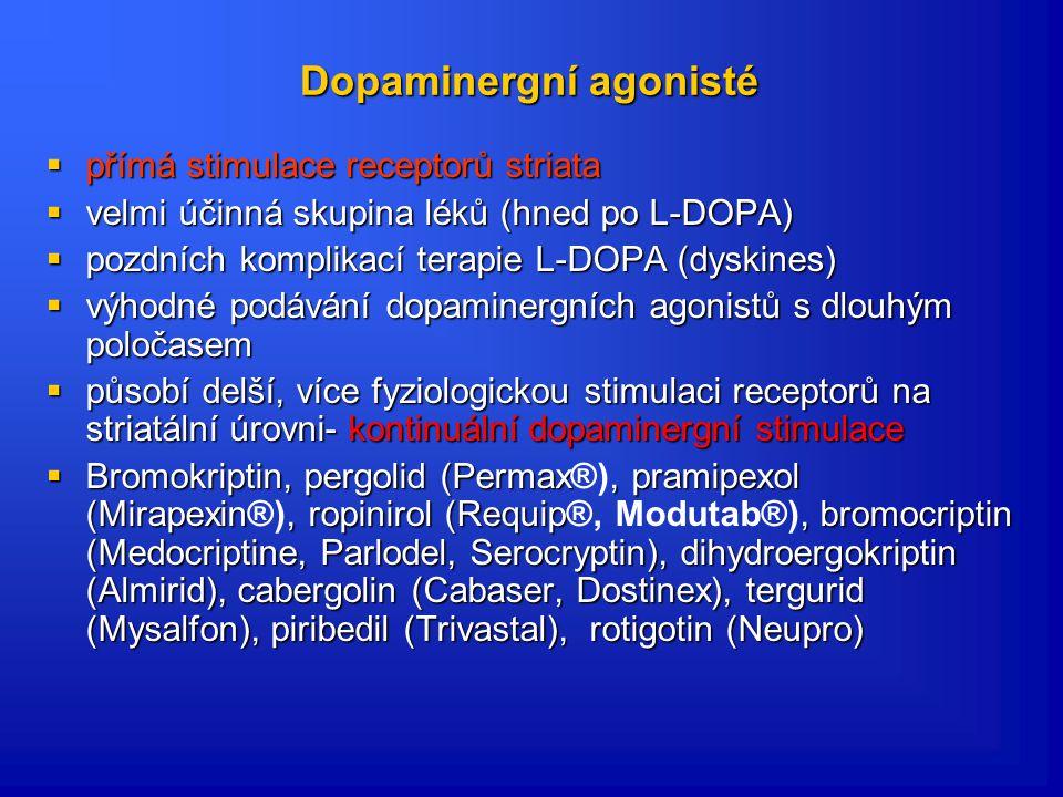 Dopaminergní agonisté