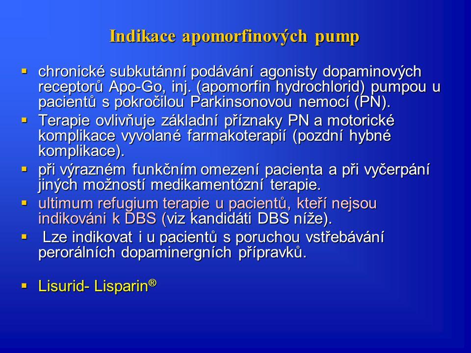 Indikace apomorfinových pump
