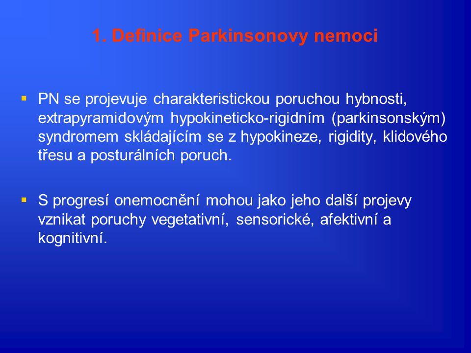 1. Definice Parkinsonovy nemoci