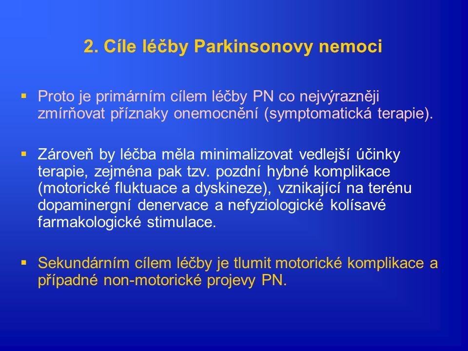 2. Cíle léčby Parkinsonovy nemoci