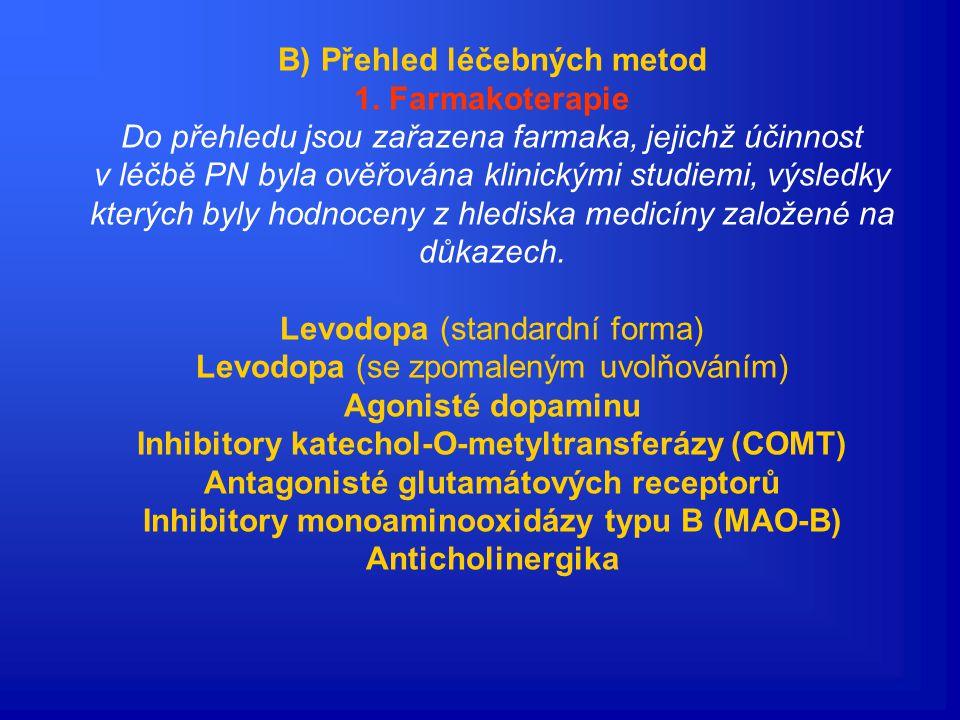 B) Přehled léčebných metod 1. Farmakoterapie