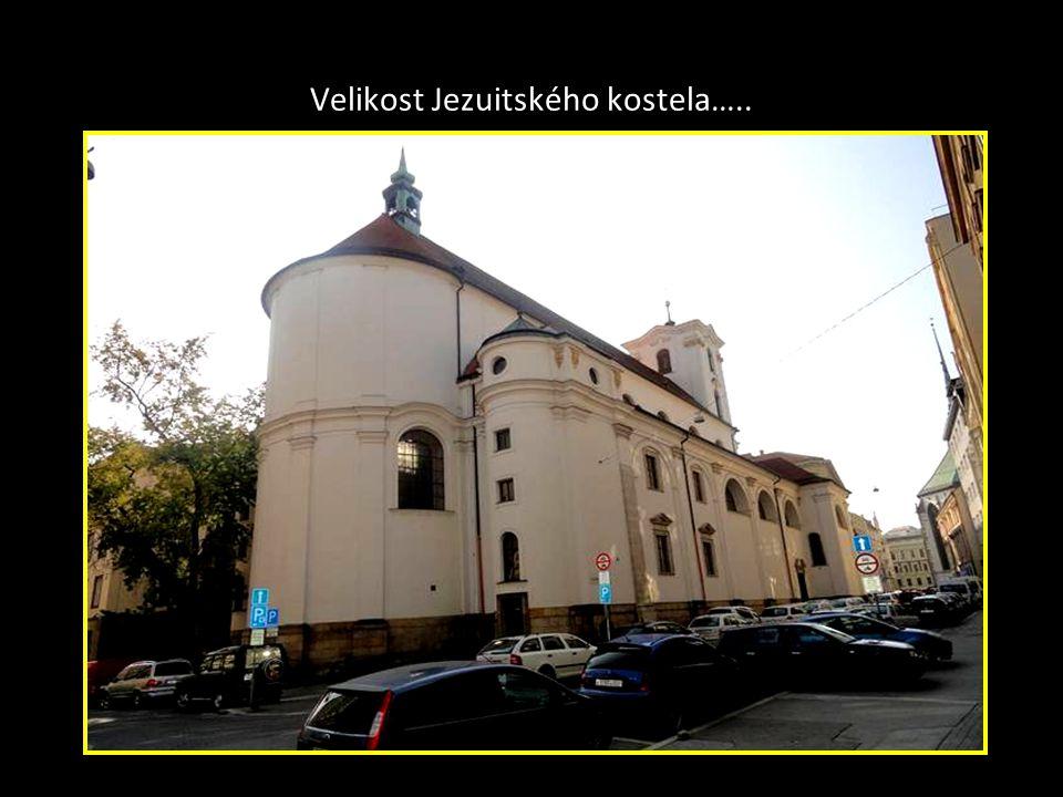 Velikost Jezuitského kostela…..