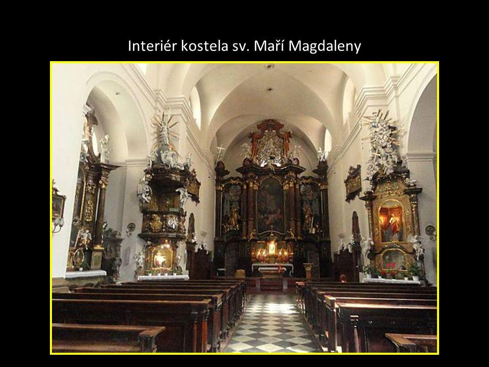 Interiér kostela sv. Maří Magdaleny