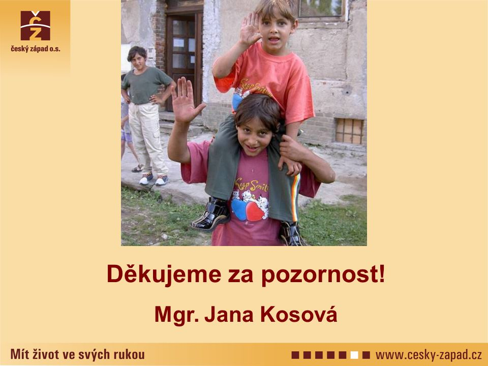 Děkujeme za pozornost! Mgr. Jana Kosová