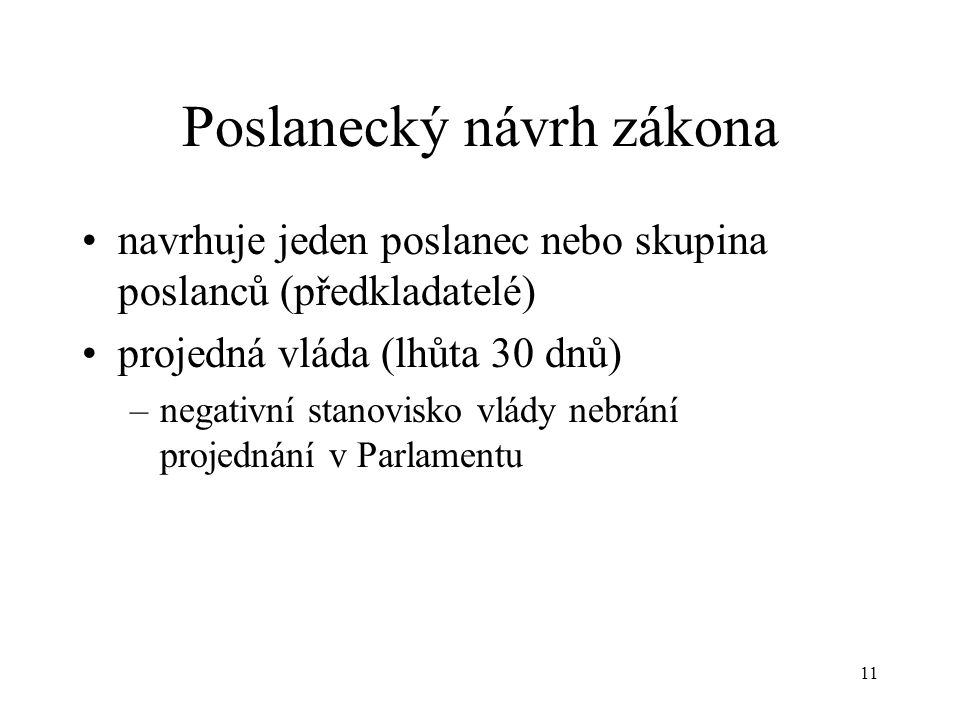 Poslanecký návrh zákona