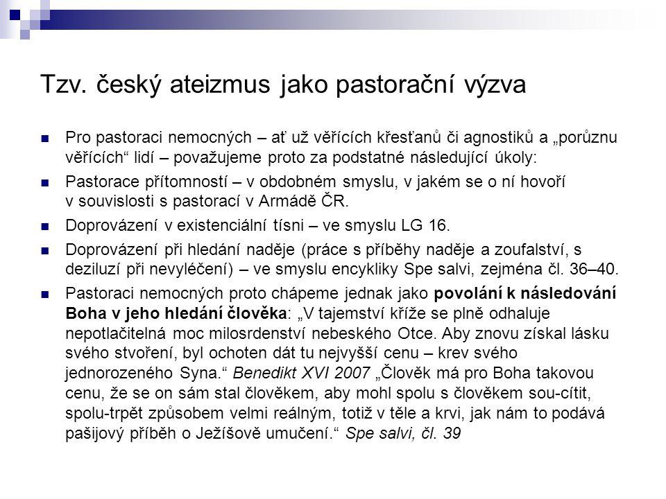 Tzv. český ateizmus jako pastorační výzva