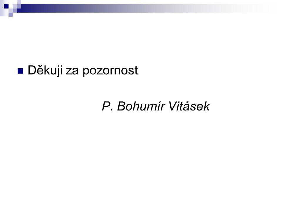 Děkuji za pozornost P. Bohumír Vitásek