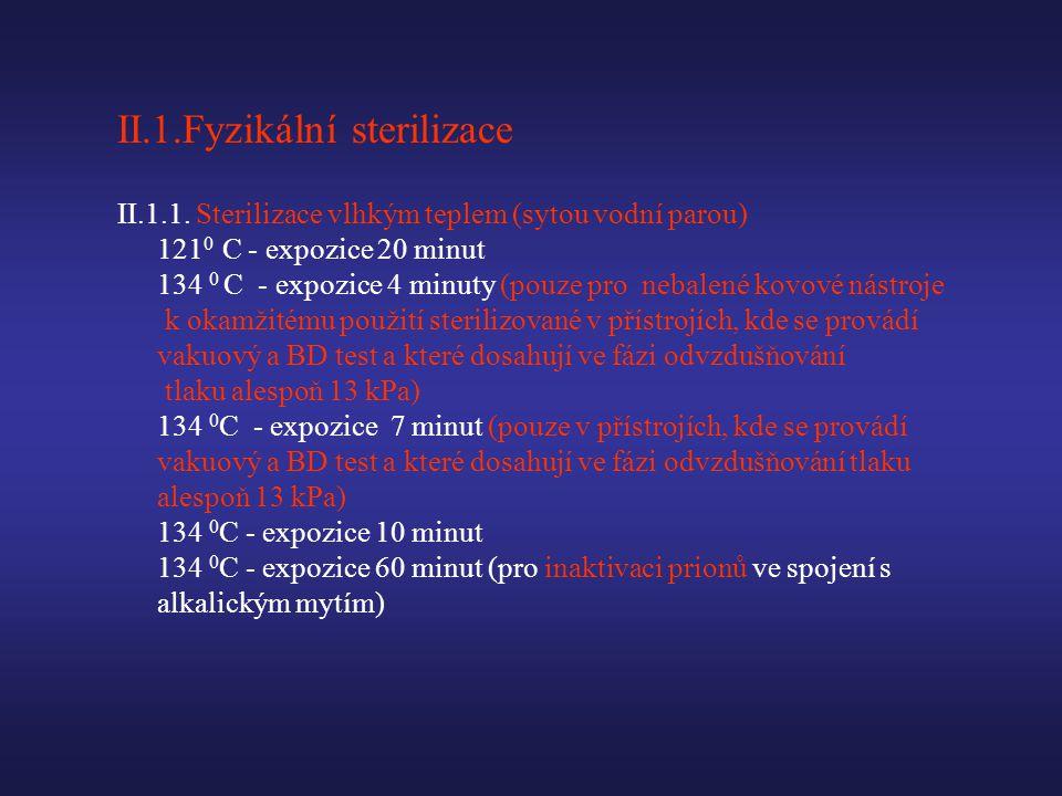 II.1.Fyzikální sterilizace