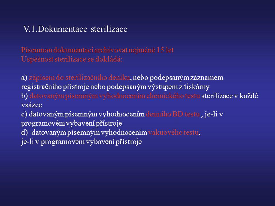 V.1.Dokumentace sterilizace