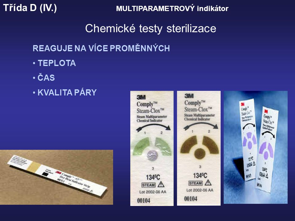 Chemické testy sterilizace