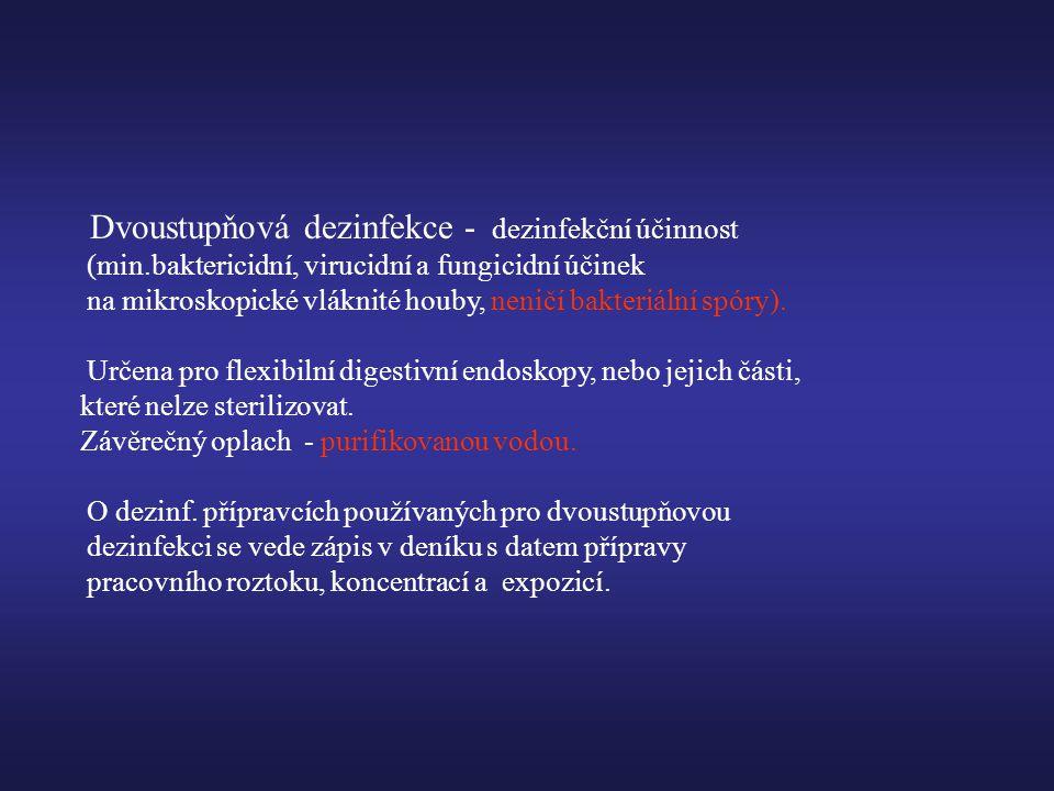 Dvoustupňová dezinfekce - dezinfekční účinnost (min