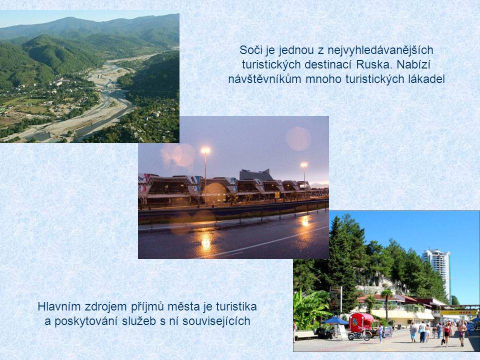 Soči je jednou z nejvyhledávanějších turistických destinací Ruska