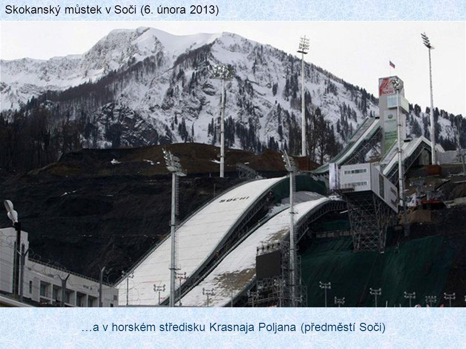 …a v horském středisku Krasnaja Poljana (předměstí Soči)