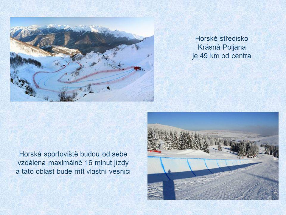 Horské středisko Krásná Poljana je 49 km od centra