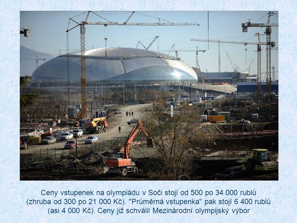 Ceny vstupenek na olympiádu v Soči stojí od 500 po 34 000 rublů (zhruba od 300 po 21 000 Kč).
