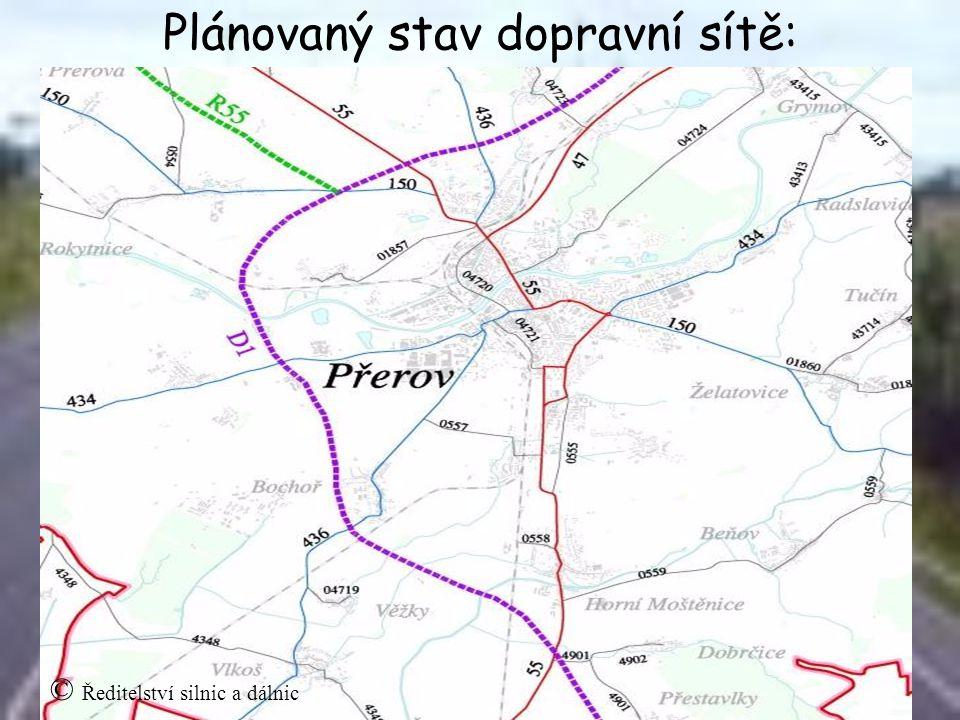 Plánovaný stav dopravní sítě: