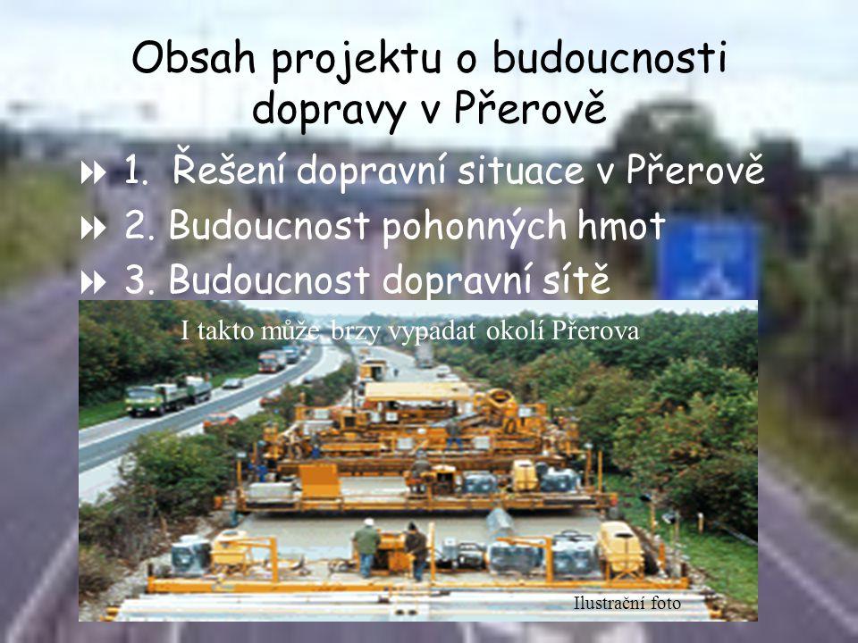 Obsah projektu o budoucnosti dopravy v Přerově