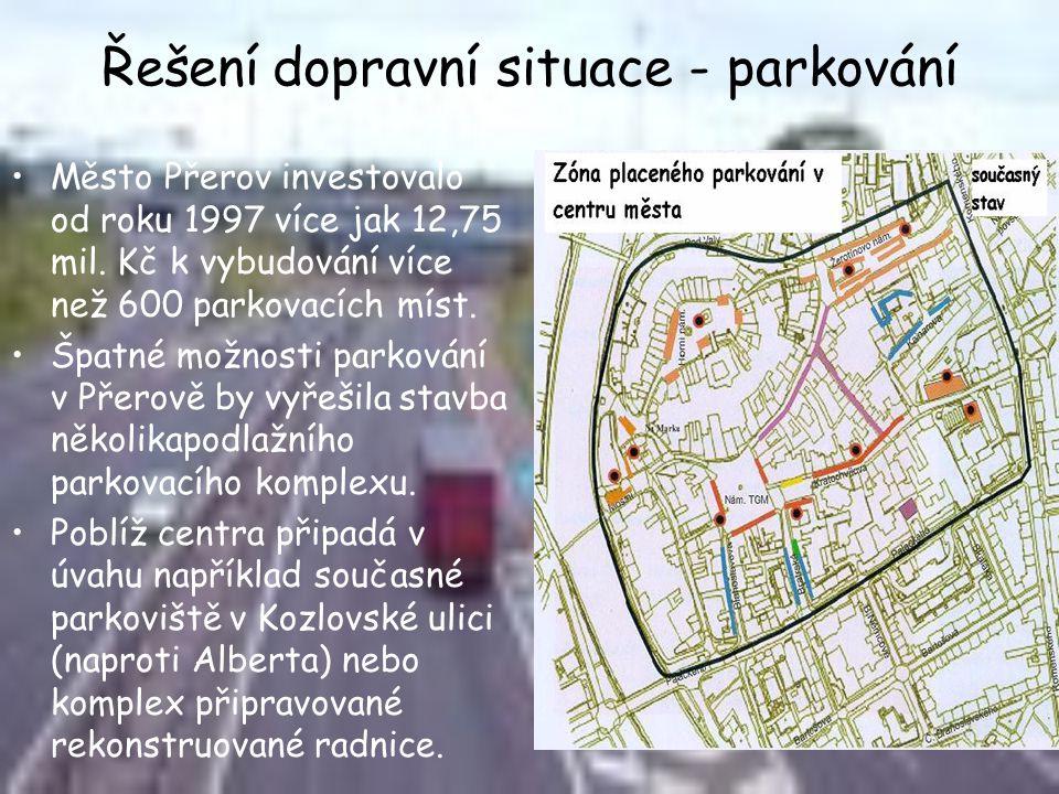 Řešení dopravní situace - parkování