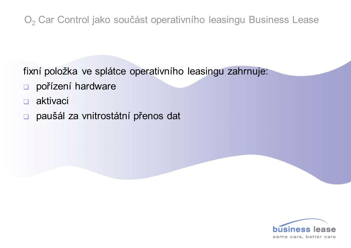 O2 Car Control jako součást operativního leasingu Business Lease