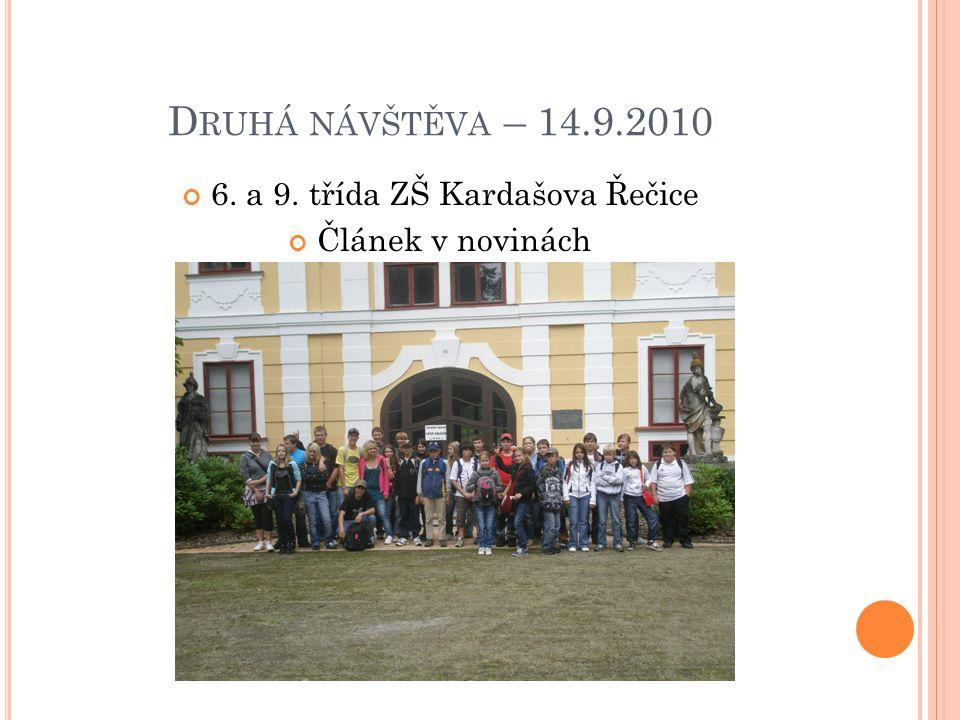 6. a 9. třída ZŠ Kardašova Řečice