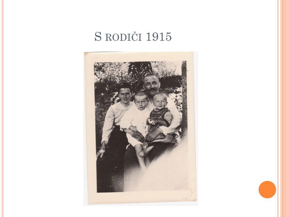 S rodiči 1915