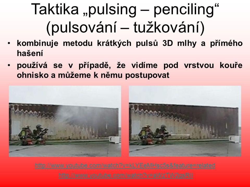 """Taktika """"pulsing – penciling (pulsování – tužkování)"""
