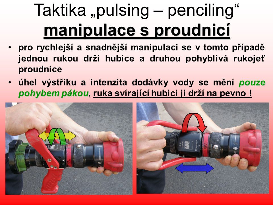 "Taktika ""pulsing – penciling manipulace s proudnicí"
