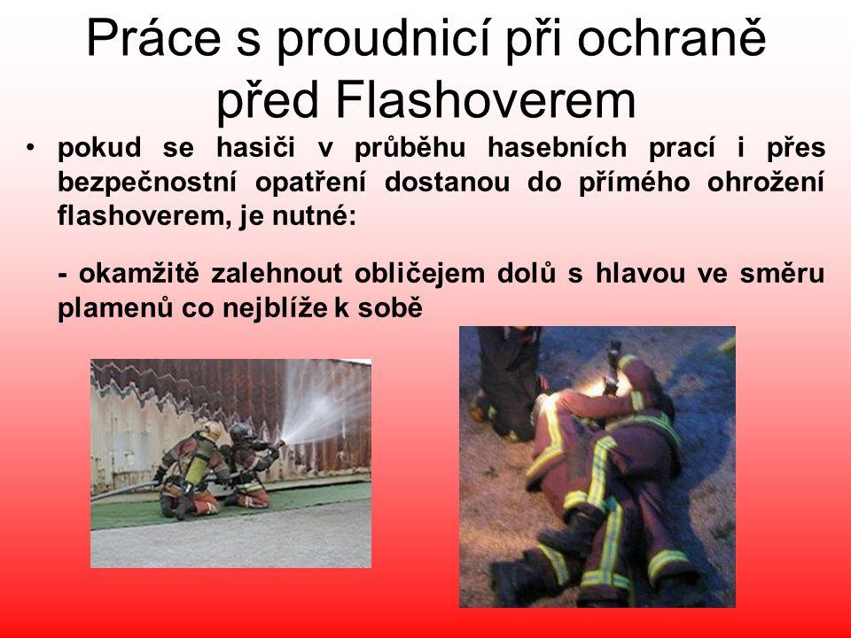 Práce s proudnicí při ochraně před Flashoverem