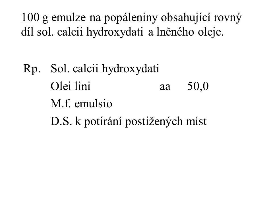 100 g emulze na popáleniny obsahující rovný díl sol