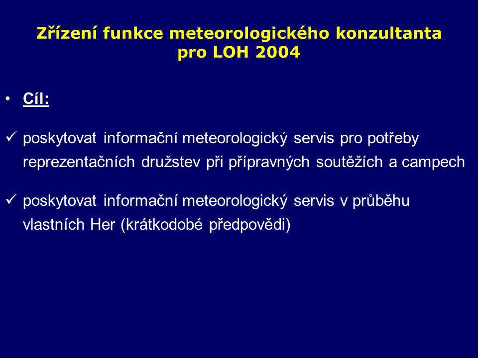 Zřízení funkce meteorologického konzultanta pro LOH 2004