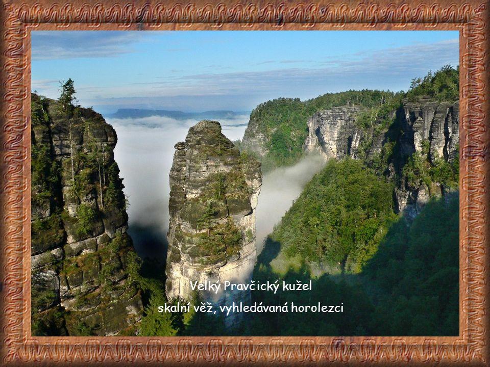 skalní věž, vyhledávaná horolezci