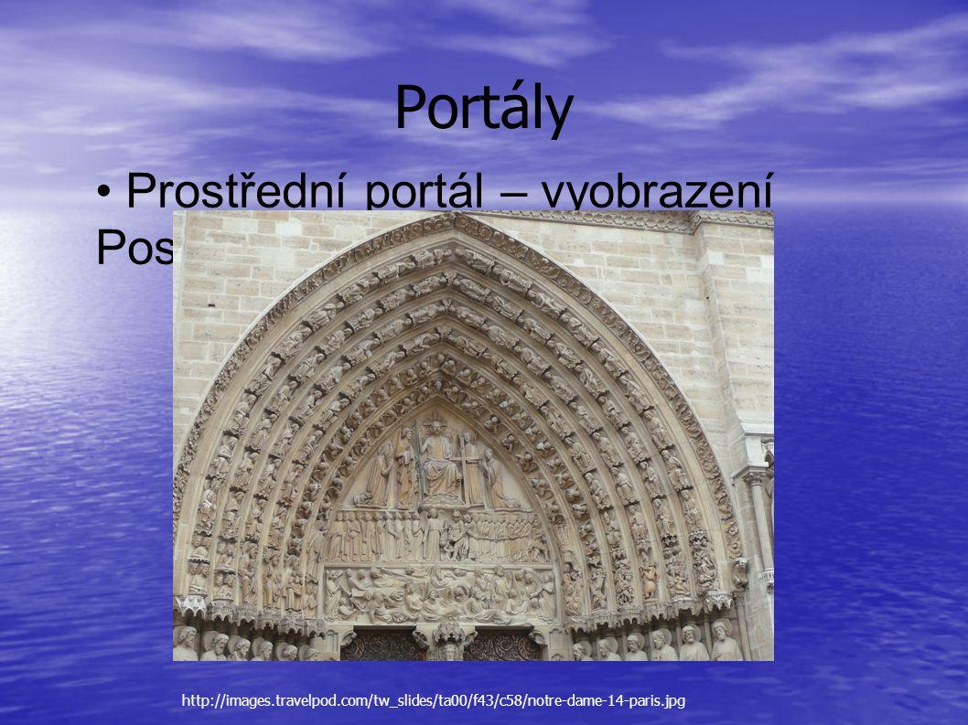Portály • Prostřední portál – vyobrazení Posledního soudu