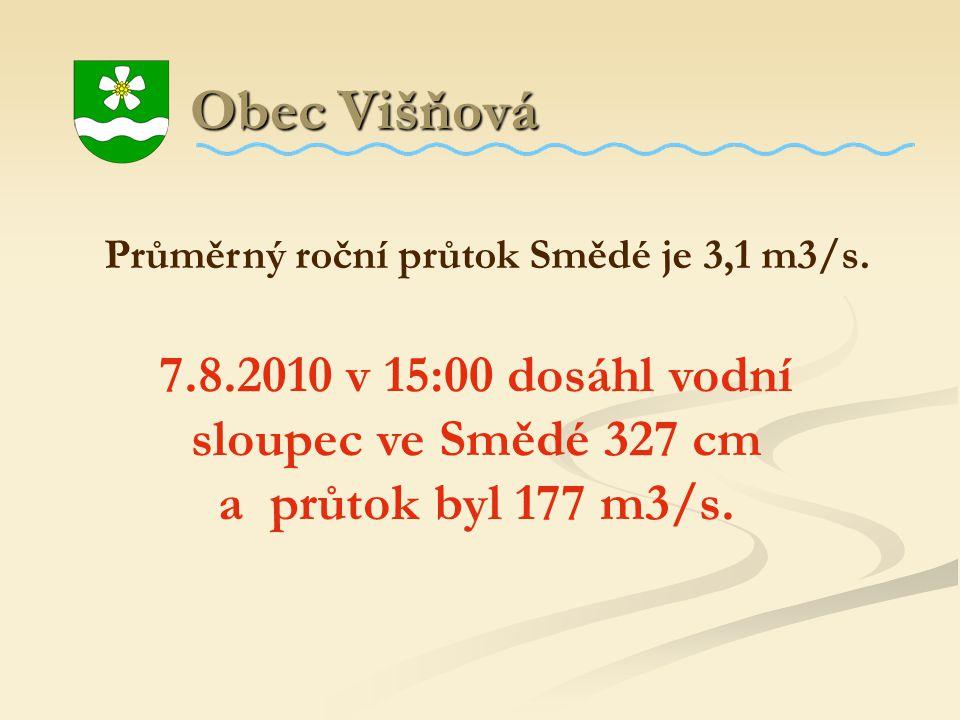 Obec Višňová Průměrný roční průtok Smědé je 3,1 m3/s.