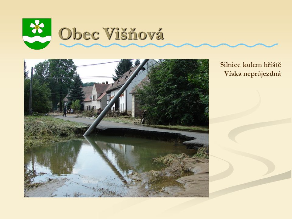 Obec Višňová Silnice kolem hřiště Víska neprůjezdná