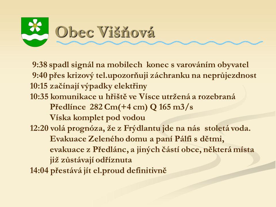 Obec Višňová 9:38 spadl signál na mobilech konec s varováním obyvatel