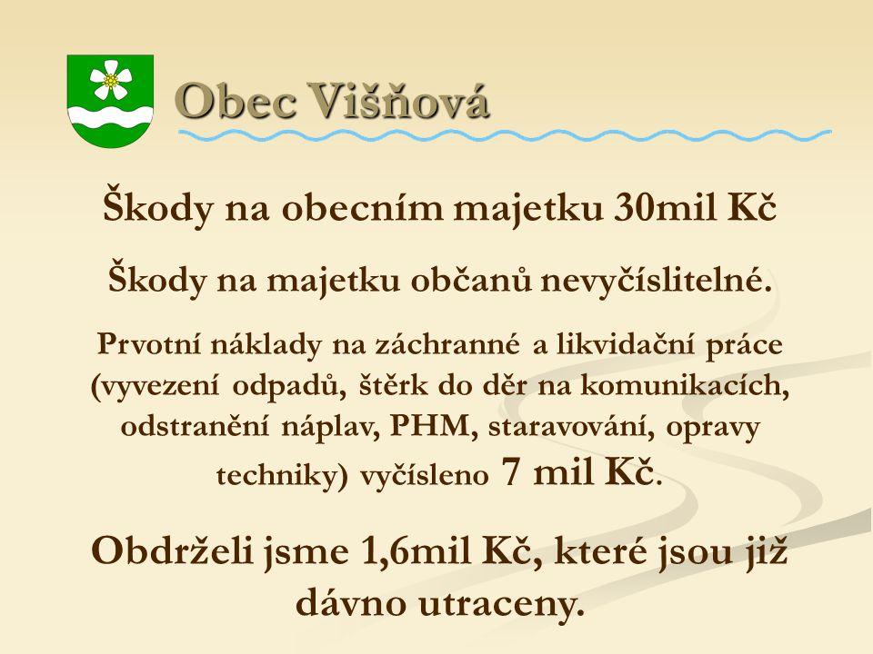 Obec Višňová Škody na obecním majetku 30mil Kč
