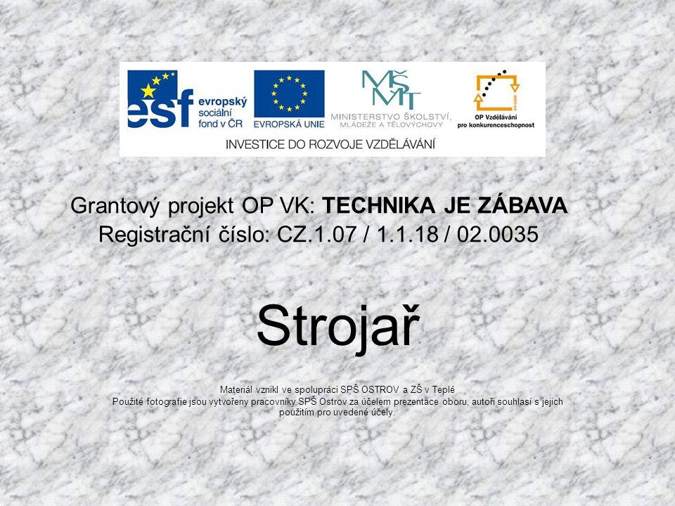 Materiál vznikl ve spolupráci SPŠ OSTROV a ZŠ v Teplé