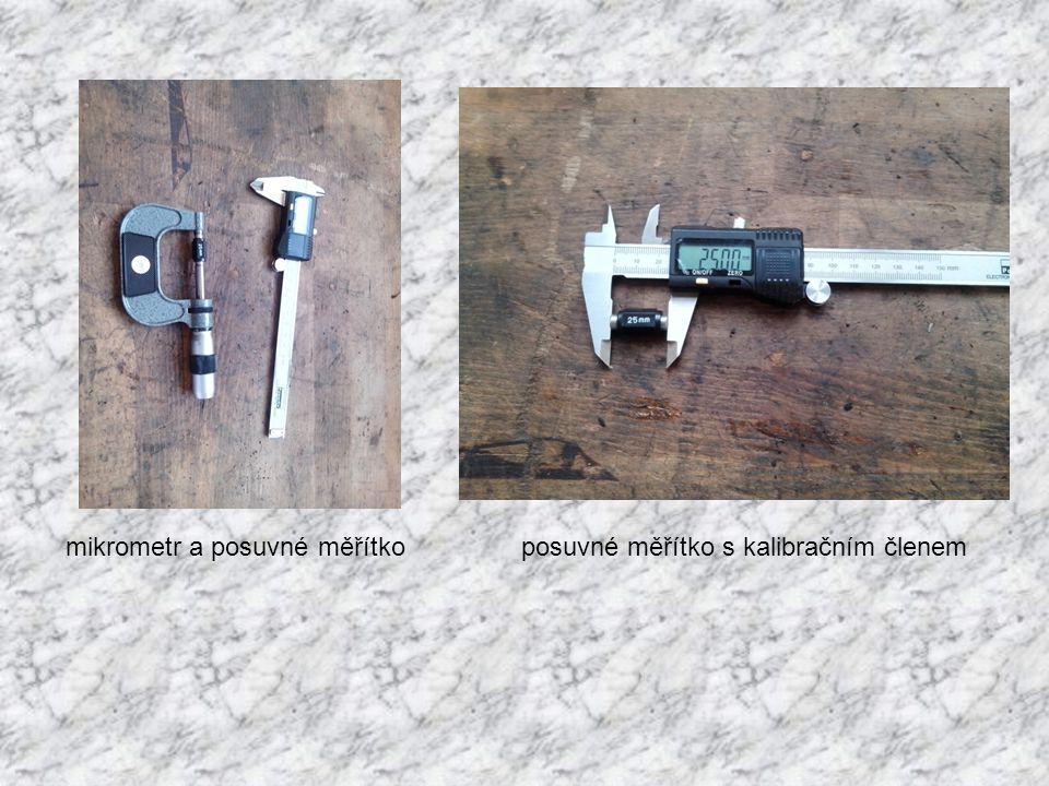 mikrometr a posuvné měřítko posuvné měřítko s kalibračním členem