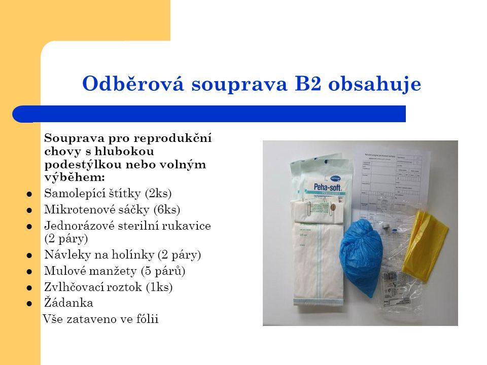 Odběrová souprava B2 obsahuje