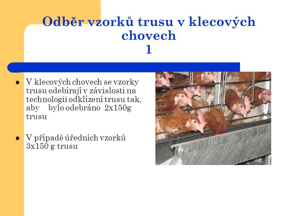 Odběr vzorků trusu v klecových chovech 1