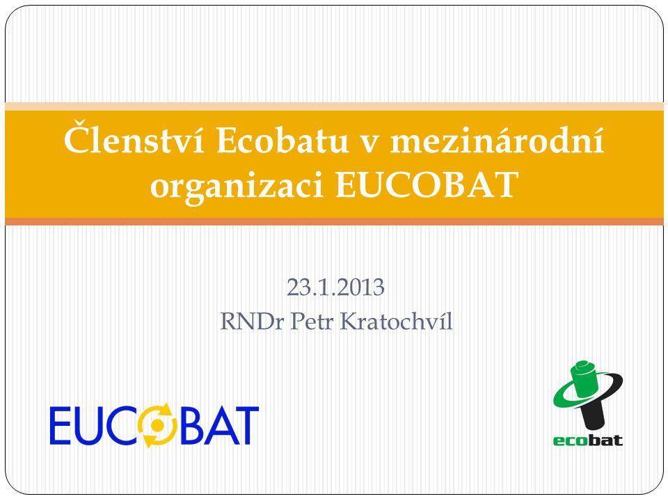 Členství Ecobatu v mezinárodní organizaci EUCOBAT