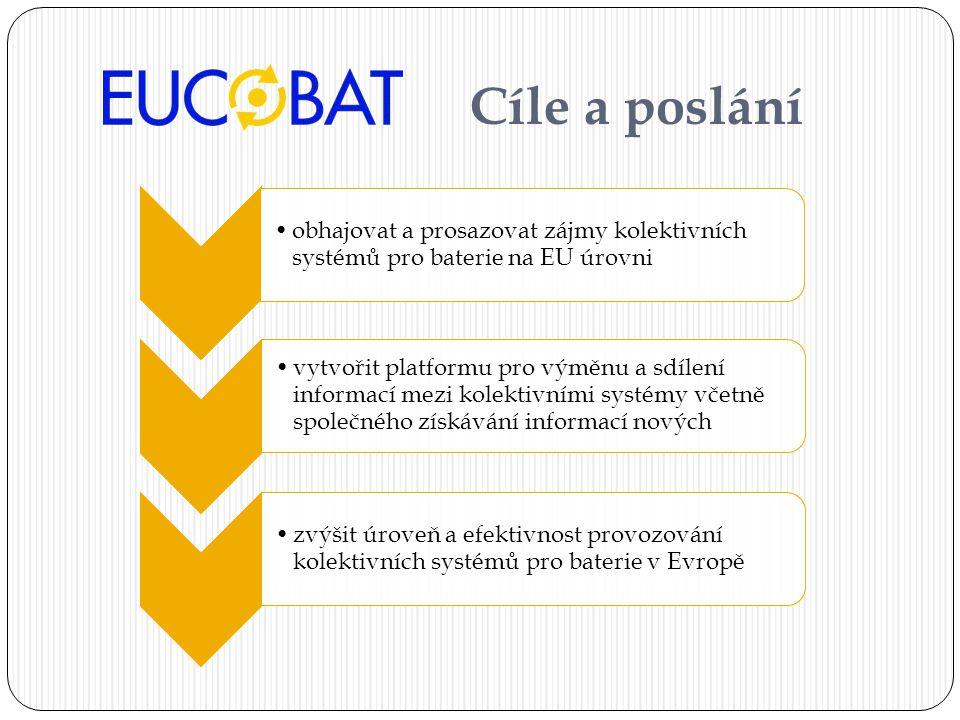 Cíle a poslání obhajovat a prosazovat zájmy kolektivních systémů pro baterie na EU úrovni.