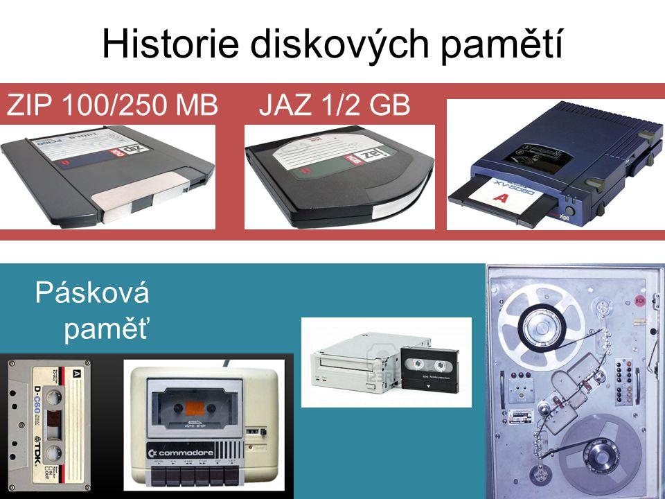 Historie diskových pamětí